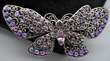 Vintage Butterfly Style Fashion Brooches Dkab/Lt Purple  high-quality Bouquet