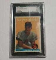 Roger Maris 1958 Topps Baseball #47 Rookie RC SGC 5.5