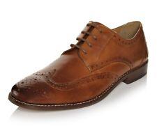 NEW w/ Defect Florsheim Men's Montinaro Wingtip Sadle Tan Oxford Shoes, Sz 11.5