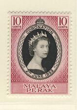 MALAYA PERAK 1953 CORONATION MNH
