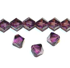 SCB613 Amethyst Purple 8mm Xilion Faceted Bicone Swarovski Crystal Beads 12pc