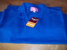 Trojan womens short sleeve ROYAL BLUE Polo Shirt 65% polyester  size 8 x 3 new
