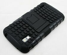 For Google LG Nexus 4 E960 Black Tough Dual Layer Heavy Duty Case Cover Stand