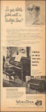 1950 vintage AD Wurlitzer Upright Pianos Organs Chicago  (073116)