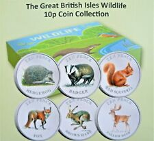 More details for 2021 british isles coloured 10p wildlife coin collection bunc