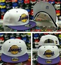 New Era NBA White Purple Los Angeles Lakers 9Fifty Snapback Hat Cap For Jordan 9