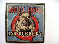 """Vintage Box of """"Bulldog Jar Rubbers"""" For Canning Jars - Unopened   *"""