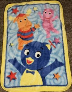 "Rare Vintage Nick Jr. The BACKYARDIGANS Lovey Fleece Plush Blanket 43x31"" GW4"