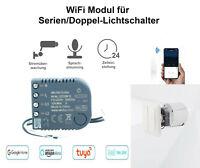 WiFi Modul für Serien Doppel Lichtschalter Smart Home Sprachsteuerung Double