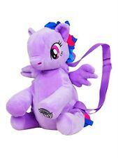 "10"" My Little Pony Twilight Sparkle Plush Backpack 1+ Girls HASBRO New Purple"