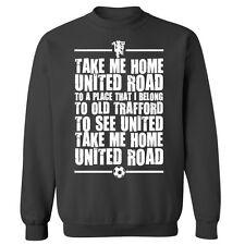 United Road Old Trafford Manchester Football Chant Sweater Sweatshirt Jumper