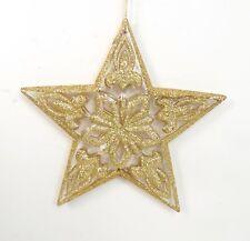NEW Gold Glitter Cut Out Fleur de Lis Star Holiday Christmas Tree Ornament