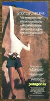 1991 Patagonia Stretch Capilene Underwear Print Ad Rock Climber Sleeve