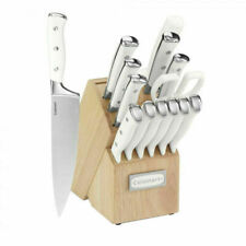 Cuisinart 15 Piece Cutlery Set with Block - White (C77WTR-15P)