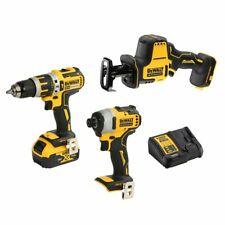 3 Piece DEWALT XR 18v Cordless Brushless 5ah Combo Kit Drill Impact Driver R-saw