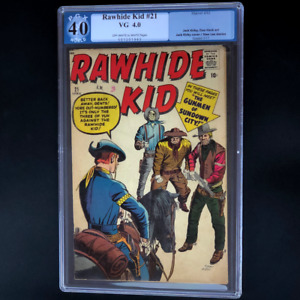RAWHIDE KID #21 (1961) 💥 4.0 PGX 💥 EARLY STAN LEE + JACK KIRBY COLLABORATION!