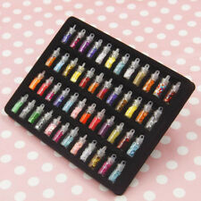 48pcs Mixed Colorful Micro Resin Glass Crystal Beads 3D Manicure Nail Art Tips