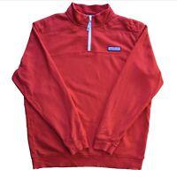 Vineyard Vines Red Quarterzip Pullover - Size Large -Thick 1/4 Zip Jumper Fleece