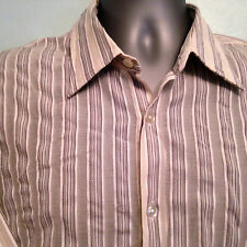"Hugo Boss Long Sleeve striped Shirt 40 ~ 41"" Chest 16"" Collar"