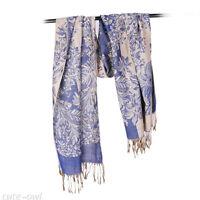 New Women's Fashion Flower 100% Cashmere Pashmina Soft Warm Wrap Shawl Scarf