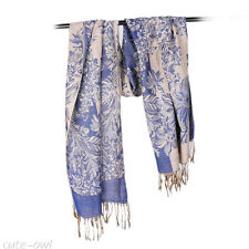 New Women's Fashion Flower 100% Cashmere Pashmina Soft Warm Wrap Shawl Scarf