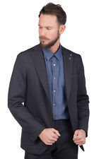 MSGM Blazer Jacket Size 48 / M Detachable Brooch Textured Made in Italy RRP€420