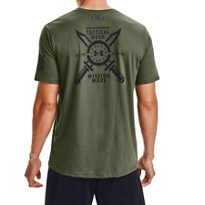Men's Under Armour Freedom Tactical Division T-Shirt.Marine Od Green