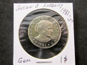 1981-S Type 2 Susan B Anthony Dollar Gem DCAM #2
