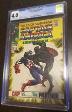 Tales of Suspense #98 CGC 4.0 Stan Lee Black Panther Captain America Marvel 1968