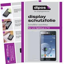2x LG Optimus L7 II Schutzfolie klar Displayschutzfolie Folie unsichtbar dipos