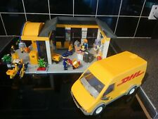 Playmobil 4400 Post Office & DHL Van Yellow Parcel Depot Delivery keyworker Role