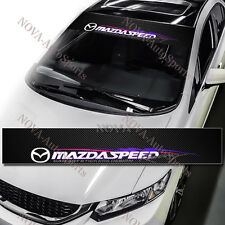 "53"" Mazda Speed Racing Window Windshield Carbon Fiber Vinyl Banner Decal Sticker"
