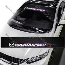 "53"" Mazda Speed Racing Window Windshield Carbon Fiber Vinyl Banner Decal Sticker"
