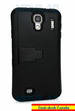 Funda Samsung I9505 / I9500 Galaxy S4 protectora / bumper  soporte negra negro