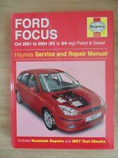 Haynes manual for the Ford Focus  Oct 2001 to 2005(51 > 05 reg ) petrol diesel