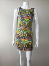 Anna & Boy Printed Summer Dress Sleeveless Deep V Back Size 1 AU 6 8
