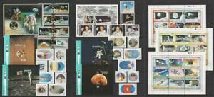 Commonwealth 1989 20th Space anniversary. MNH Sets, MS's