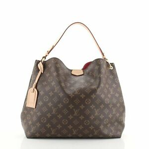 Louis Vuitton Graceful Handbag Monogram Canvas MM