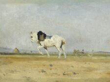 LAPINE FRENCH PLOW HORSE FIELD OLD ART PAINTING POSTER BB6382A