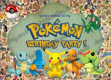 Pokemon go Birthday Party Invitations,Pokemon,Pokemon go X 10 CARDS +Envelopes