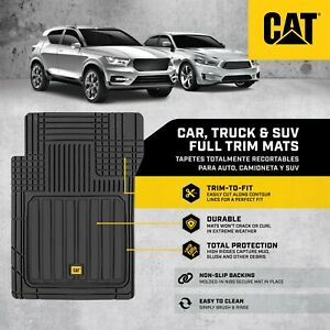 CAT® Rubber Car Floor Mats, All Weather Protection Semi Custom Fit Many Styles