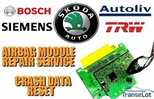 SKODA AIRBAG ECU SRS ECU AIRBAG MODULE CRASH DATA RESET REPAIR SERVICE