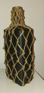 Home Décor Single Flower Black Painted Macrame Suntory Whisky Bottle Vase