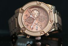 Marc Ecko Mens The Fortress Classic Chronograph Rose Gold Stainless Steel Watch