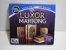 Luxor Mahjong (PC, Windows 98SE ME 2000 XP) w/ Mahjong Quest Mumbo Jumbo Game