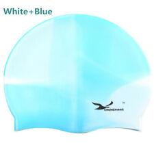 Unisex Adult Durable Silicone Swimming Cap Cover Ears Elasticity Swim Pool Hat