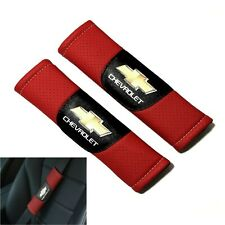 JDM Racing Leather Look Car Seat Belt Covers Shoulder Pads For Chevrolet
