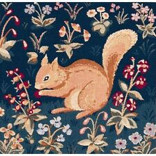 French Tapestry Decorative Throw Pillow Cushion Cover 14x14 Medieval Squirrel