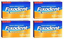 4 Pack - Fixodent Denture Adhesive Powder Extra Hold 2.70oz Each