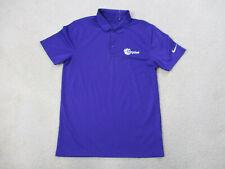 Nike Miami Hurricanes Polo Shirt Adult Small Purple Orange Bowl Football Mens A5